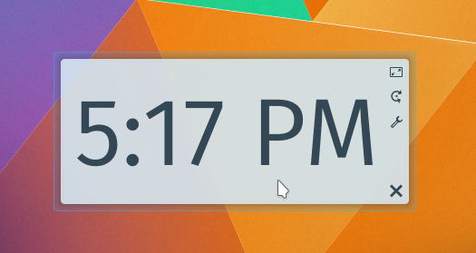 Moving a widget in Plasma Desktop 5.3 in press-and-hold mode