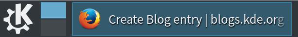 Plasma Task Manager widget